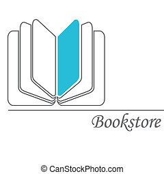 Bookstore - Book sign Book symbol Bookstore Vector...