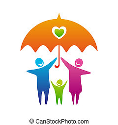 CareFamily - Happy and loving family with child under...
