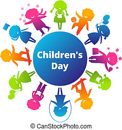 ChildrensDay - Children's Day concept Cute children...