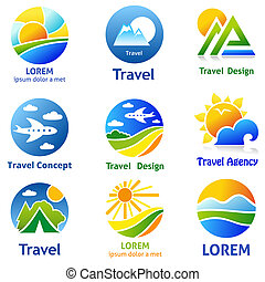 CompanyConcepts - Set of travel business concept Symbols and...