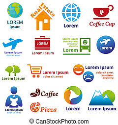 CompanyName - Set of company name concepts Vector...