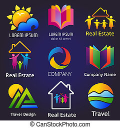 CompanySet - Set of company name concepts Vector...