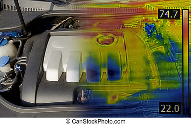 Engine Thermal Image - Car Engine Thermal Imaging Infrared