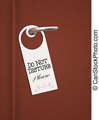 do not disturb sign on door