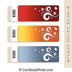 Winter Price Labels