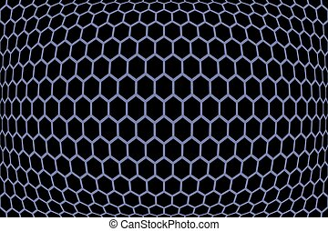 Hexagons  pattern. Geometric texture. Vector art.
