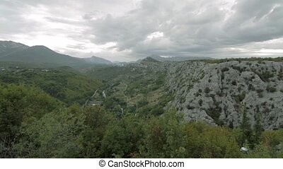 View on gorge at Zadvarje, Croatia