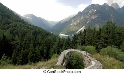 View on Cave Del Predil, Italy