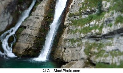 Waterfall at Savica Gorge, Slovenia