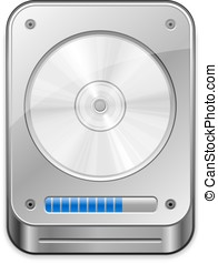 Hard Disc Icon - Hard Disk Drive Network backup...