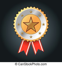 illustration of gold star award