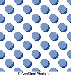 Tile vector polka dots pattern