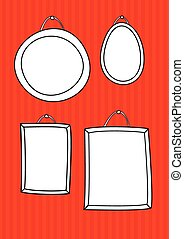 Hand drawn vector decorative frames