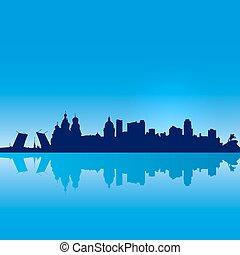 St Petersburg vector silhouette - Russia St Petersburg...