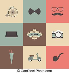 retro fashion - hipster gadget, retro and vintage style