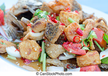 Fish fried with Chili Sweet Sauce