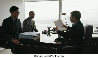 10 Business Meeting People Having Argument When Signing...