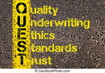 Accounting Business Acronym QUEST Quality, Underwriting,...