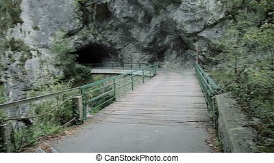 Bridge at Tolmin gorge, Slovenia