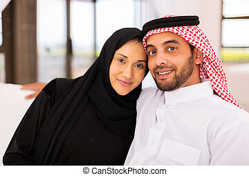 young muslim married couple - cute young muslim married...