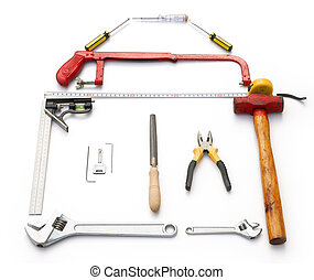 路徑, 剪, 相象, 成形, 房子, 工具