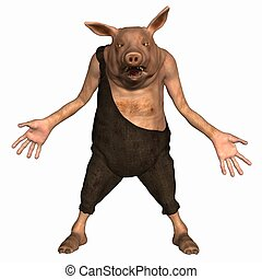 Toon Pig - 3 D Render of an Toon Pig