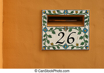 tiled letterbox for home
