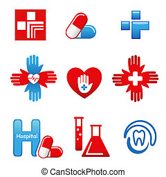 MedicalIcons - Set of medical icons. Vector illustration