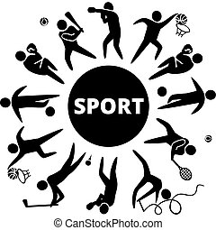 Sport - World of sports Vector illustration of sports icons:...