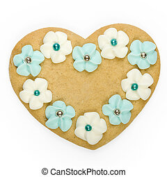 Heart shaped cookie - Heart shaped gingerbread cookie...
