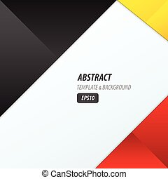 background dimension modern, black, red, yellow