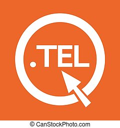 Domain dot tel sign icon Illustration