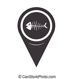 Map Pointer Fish skeleton