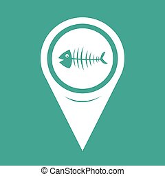 Map Pointer Fish skeleton