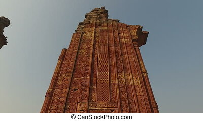 Architecture at the Qutb Minar complex in Delhi, India...