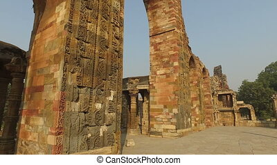 Arches at the Qutb Minar complex - - Sandstone arches at the...