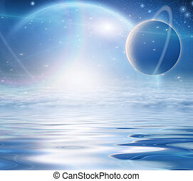 Exosolar Planets Rise over quiet waters