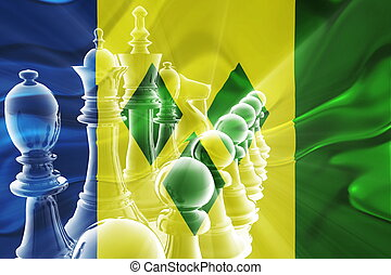 Flag of Saint Vincent and Grenadines wavy business strategy...