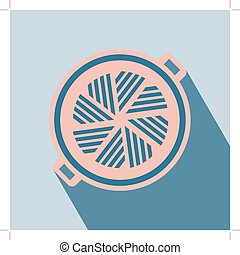 Barbecue Grill Icon. Vector illustration. Elements for...