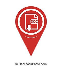 Map Pin Pointer File type DOC icon