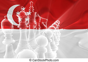 Flag of Singapore wavy business strategy - Flag of...