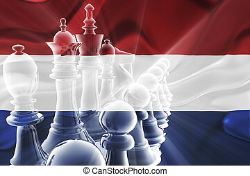 Flag of Netherlands wavy business strategy - Flag of...