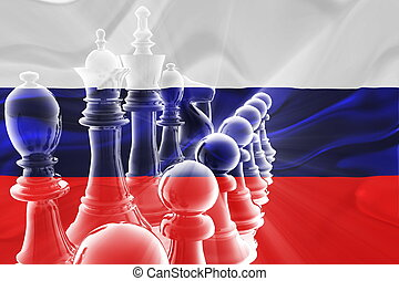 Flag of Russia wavy business strategy - Flag of Russia,...