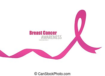 Breast cancer awareness pink ribbon, healthcare and medicine...