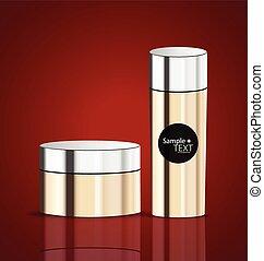 Cosmetics packaging, vector illustration