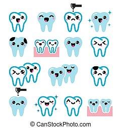 Kawaii Tooth , cute teeth character - Japanese Kawaii tooth...