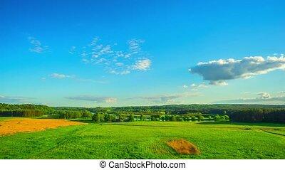 Summer landscape, timelapse - Summer landscape, panoramic...
