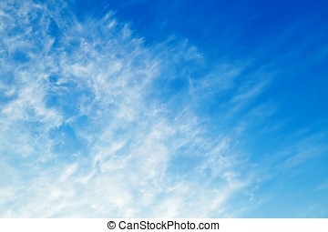 Cirrus clouds - Amazing white cirrus clouds in sky