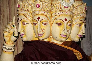 Statue of Devi Gayatri Mata - Idol of Devi Gayatri Mata at...