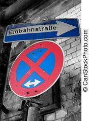 road signs in downtown Cologne